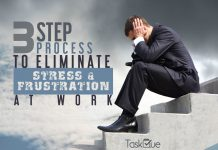 3-Step Process to Eliminate Stress & Frustration at work - TaskQue Blog