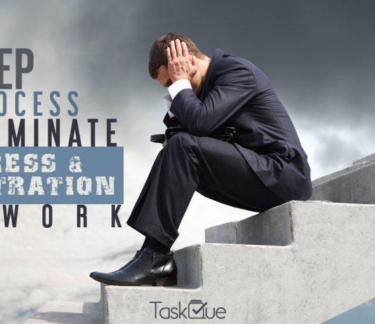 3-Step Process to Eliminate Stress & Frustration at work - TaskQue Blog