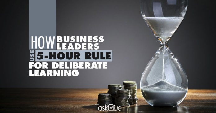 How Business Leaders Use 5 Hour Rule For Deliberate Learning - TaskQue Blog