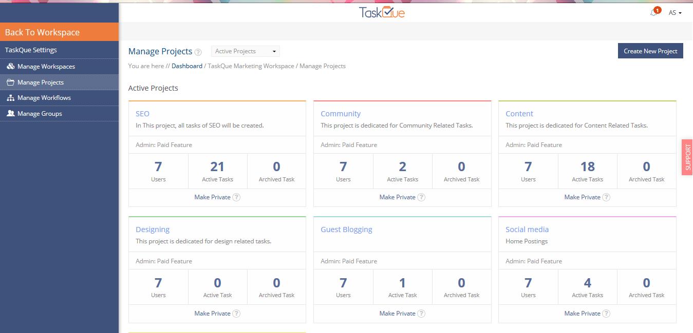 TaskQue-dashboard