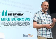 Agile project management thought leader and founder of Agendashift Mike Burrows in an interview with TaskQue