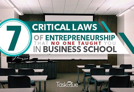 Laws of Entrepreneurship