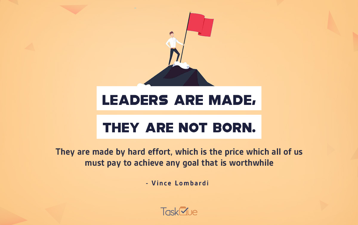 Leadership Quote by Vince Lombardi